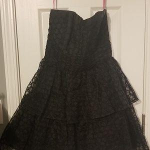 Betsey Johnson black lace party dress size 8